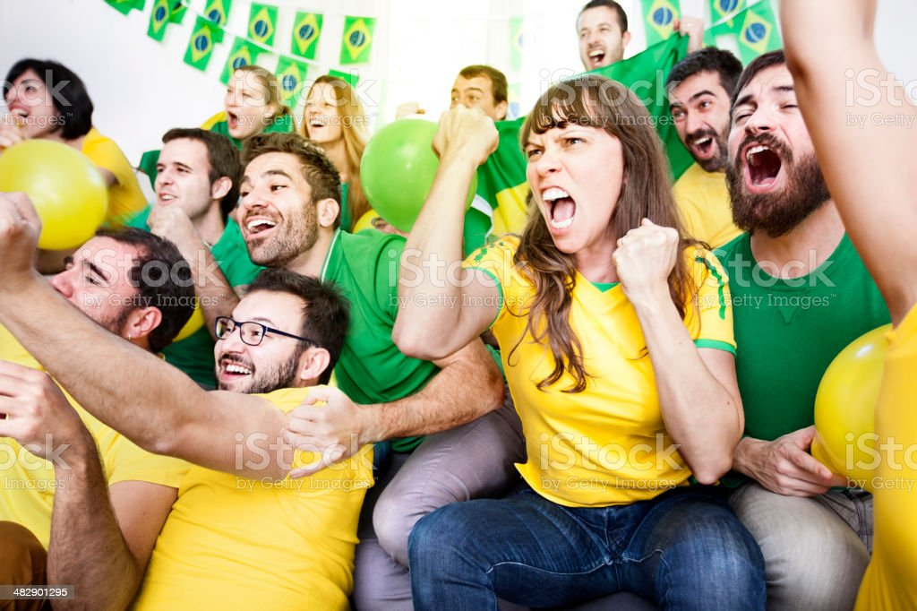 Brazillian supporters royalty-free stock photo