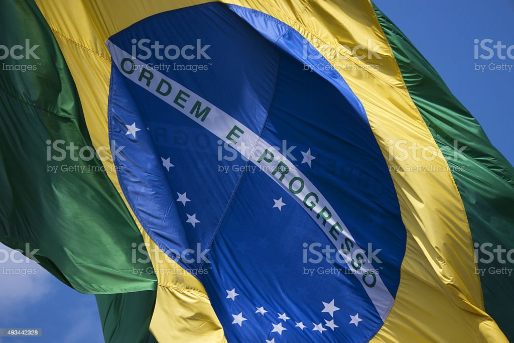 Brazil's flag stock photo
