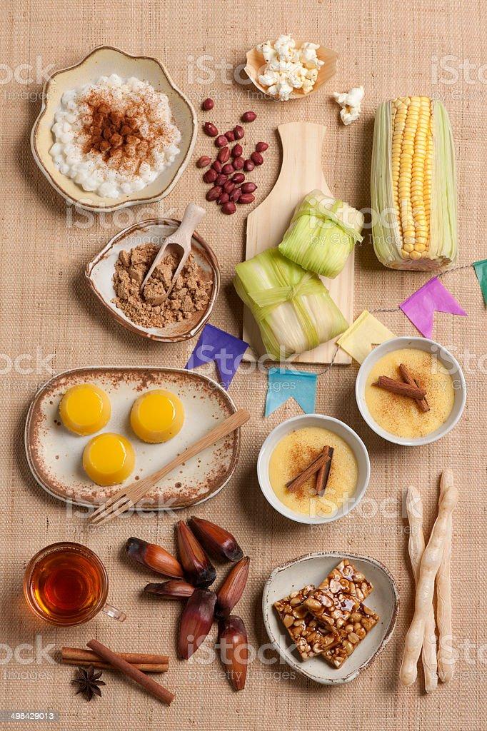 Brazil's June festival cuisine stock photo