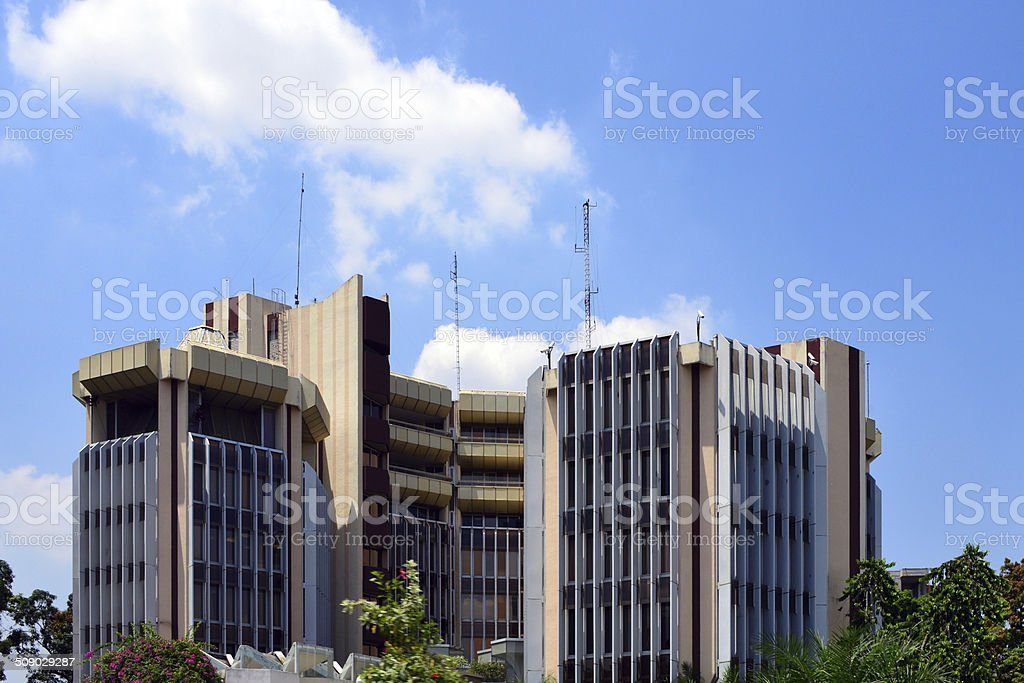 Brazzaville, Bank for the Development of the Central African States stock photo