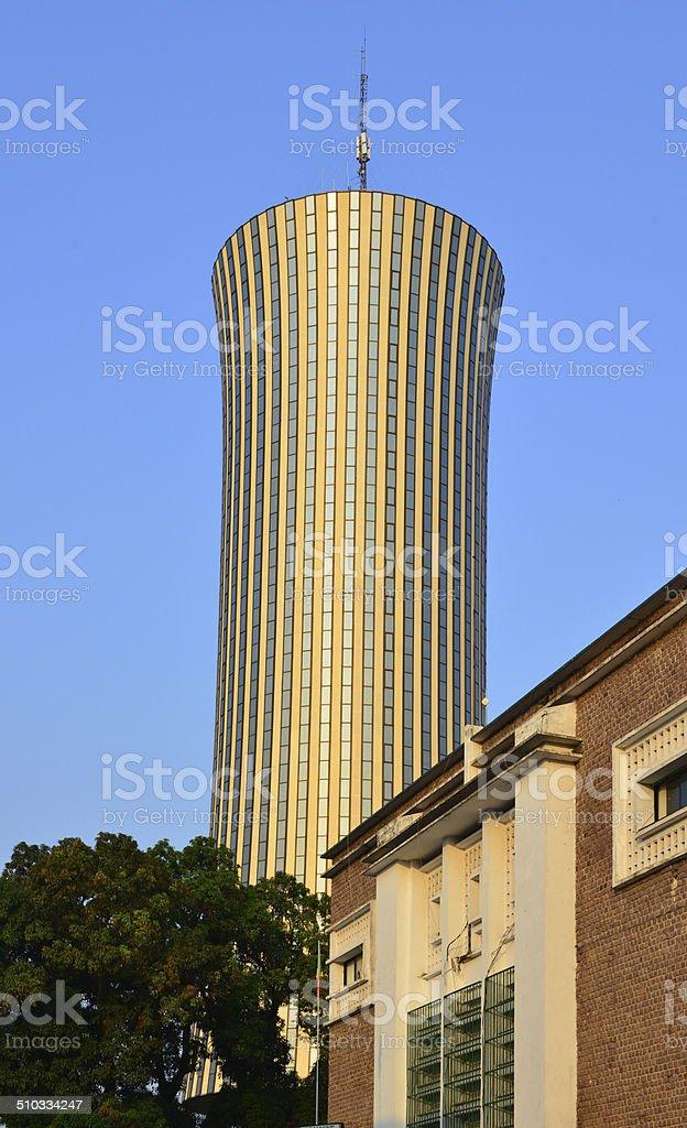Brazzaville, Congo: old and new architecture stock photo