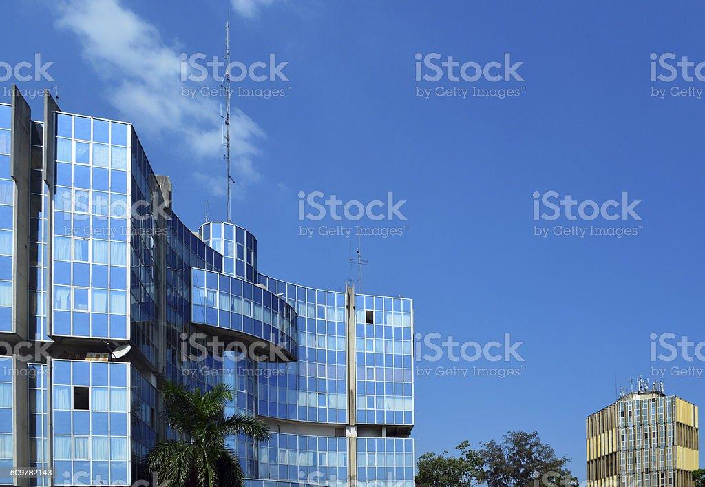 Brazzaville, Congo: the Oil Ministry stock photo