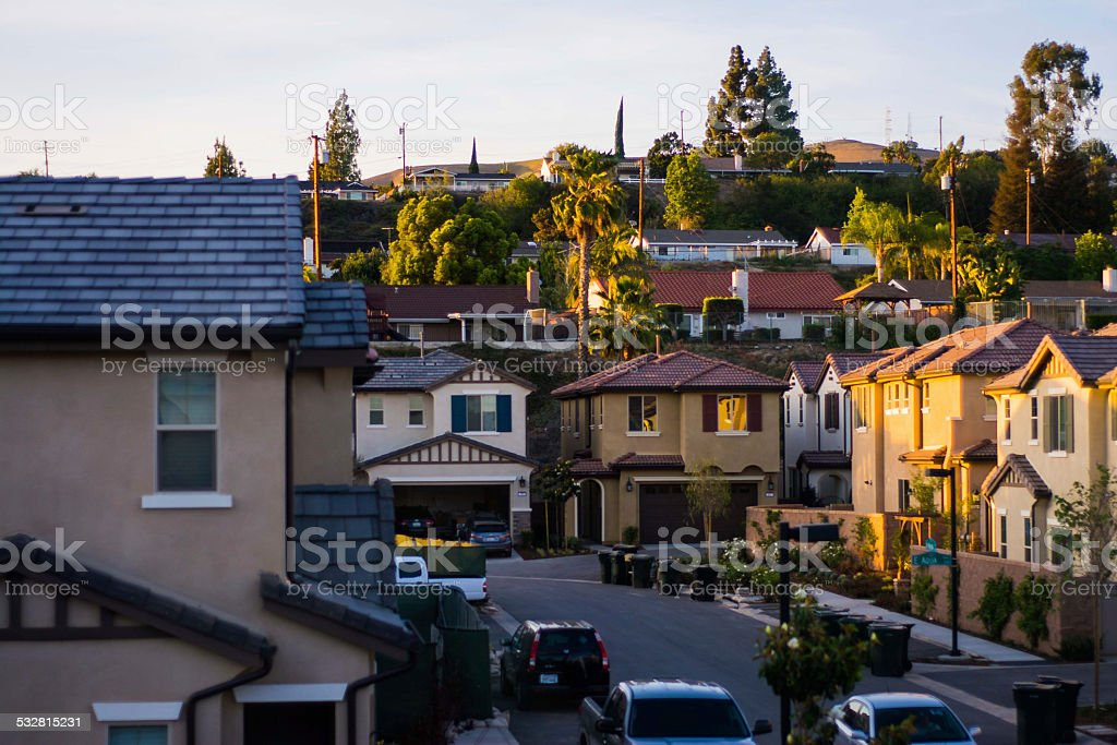 Brea Houses stock photo