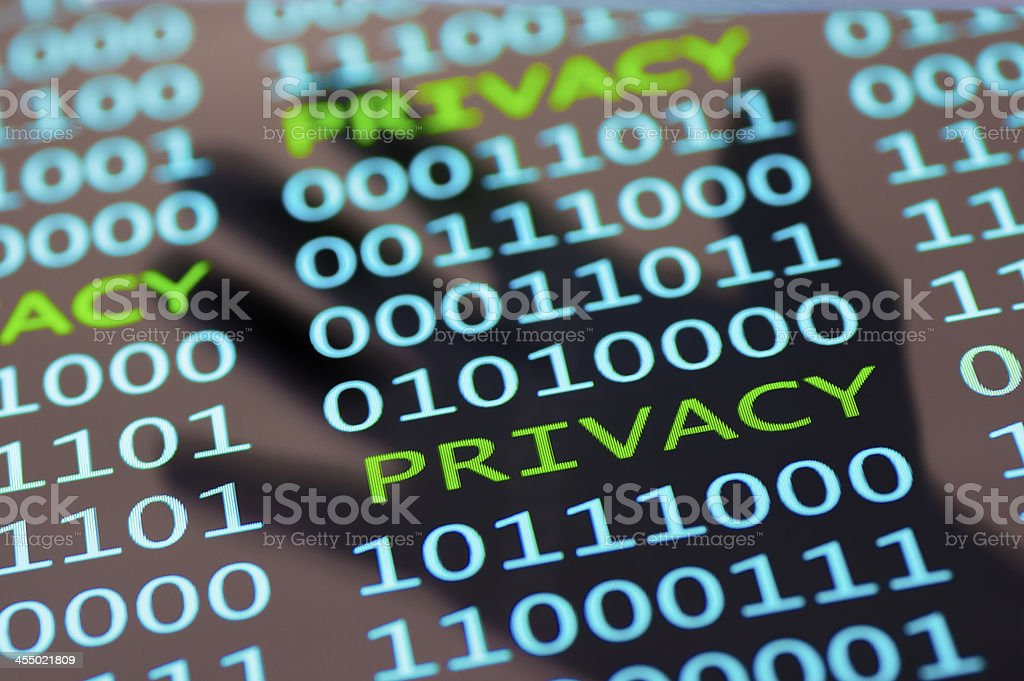 Breach of Privacy stock photo