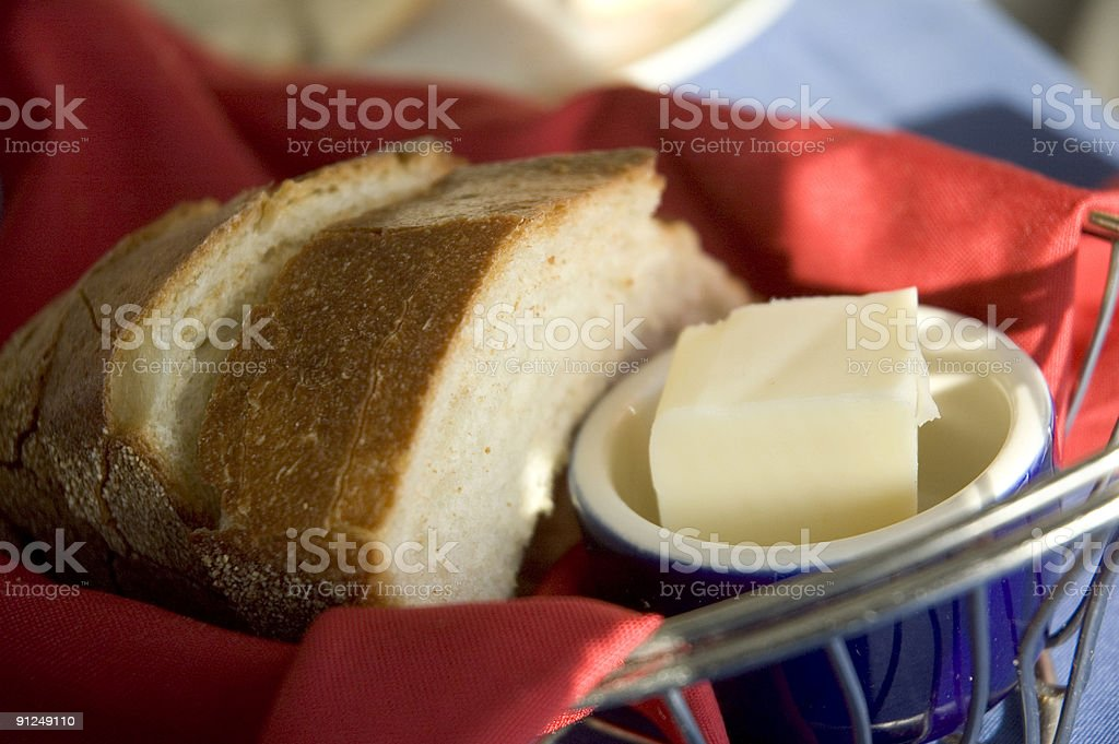 Bread and Butter Basket royalty-free stock photo