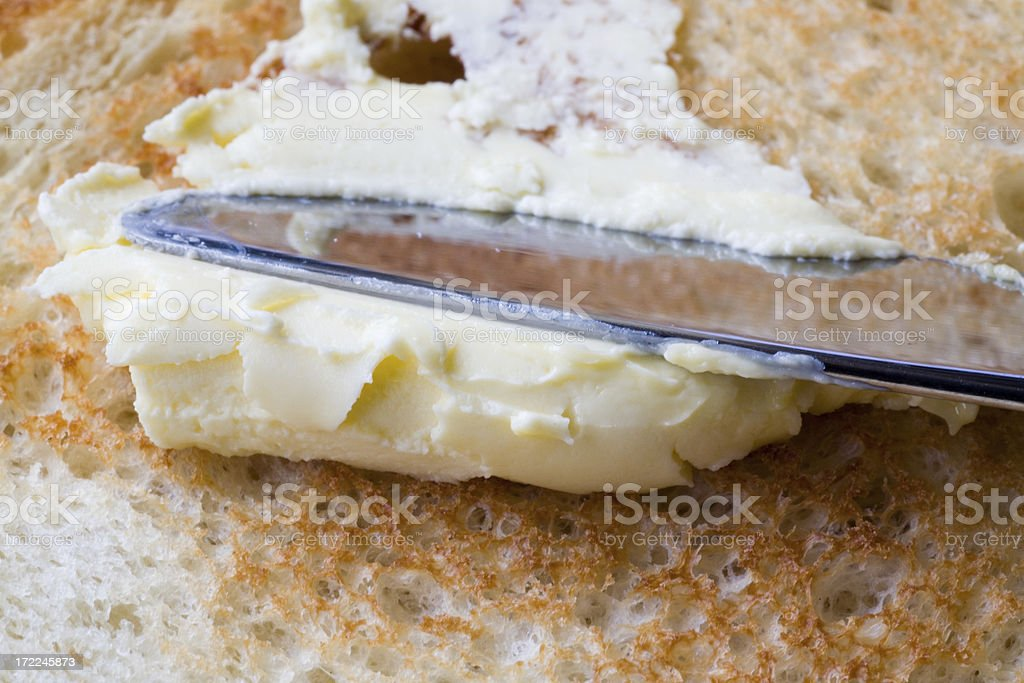 Bread And Butter Close royalty-free stock photo