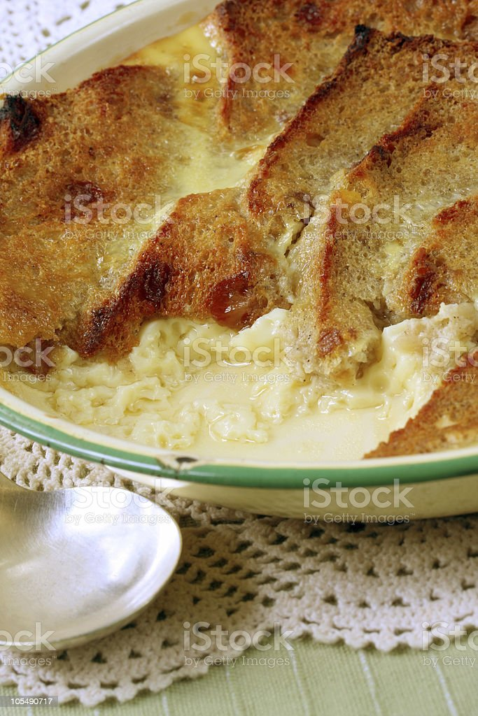 Bread and Butter Pudding royalty-free stock photo