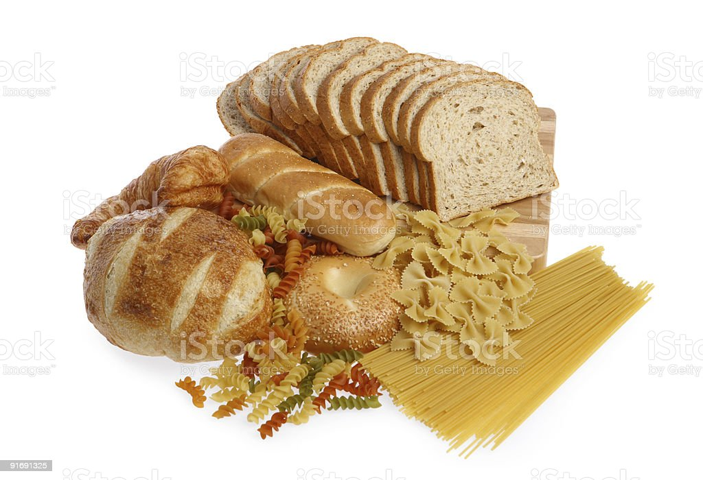 Bread and cereal group stock photo