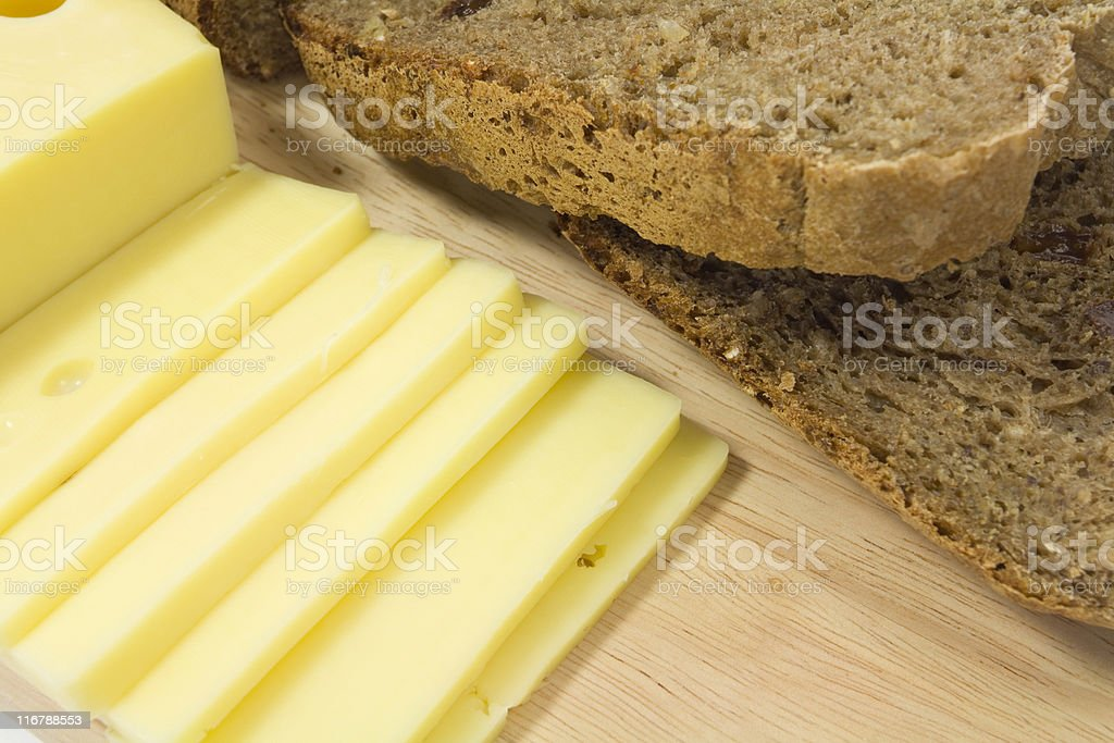 bread and cheese royalty-free stock photo