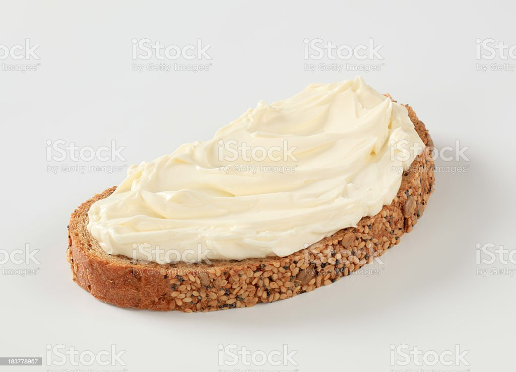Bread and cheese spread royalty-free stock photo
