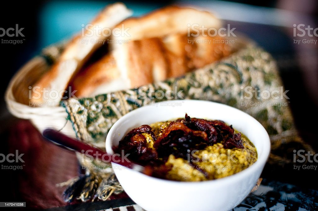 Bread and Dip stock photo