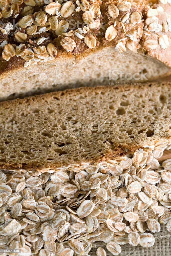 Bread and flakes stock photo