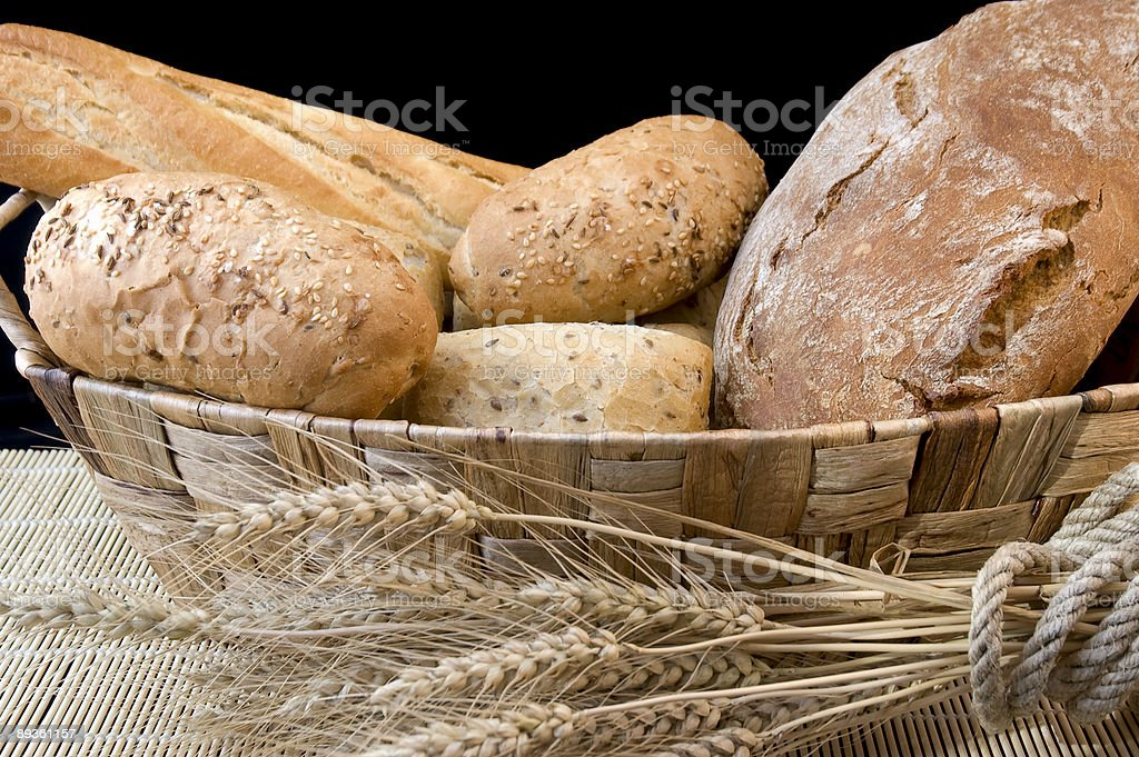 Bread and grain royalty-free stock photo
