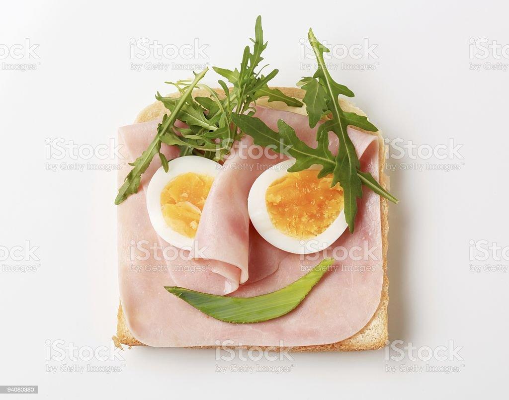 Хлеб и ветчиной Стоковые фото Стоковая фотография