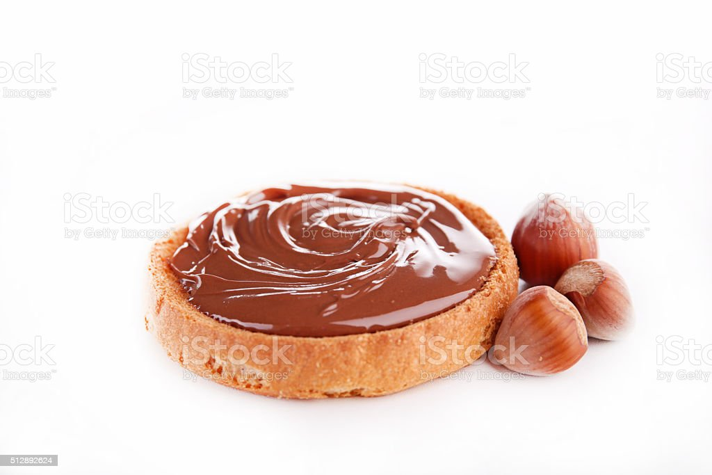 bread and nutella stock photo