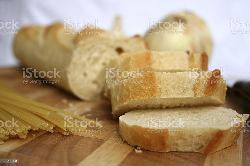 Bread and Pasta royalty-free stock photo