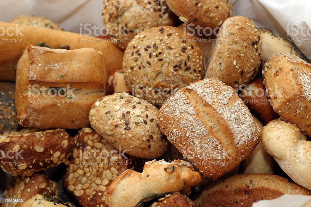 Bread and rolls stock photo