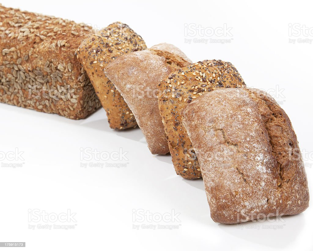 Bread and rolls royalty-free stock photo