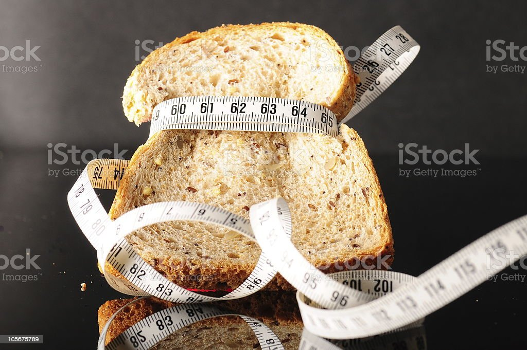 bread and tapeline royalty-free stock photo