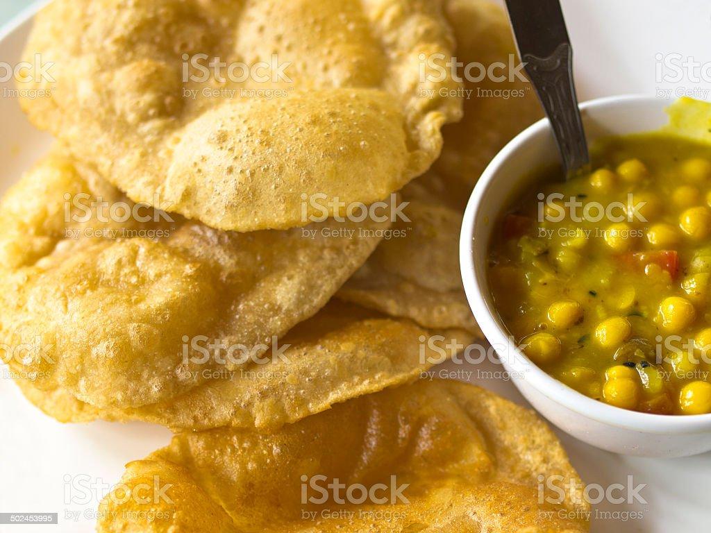 Bread and Thali stock photo