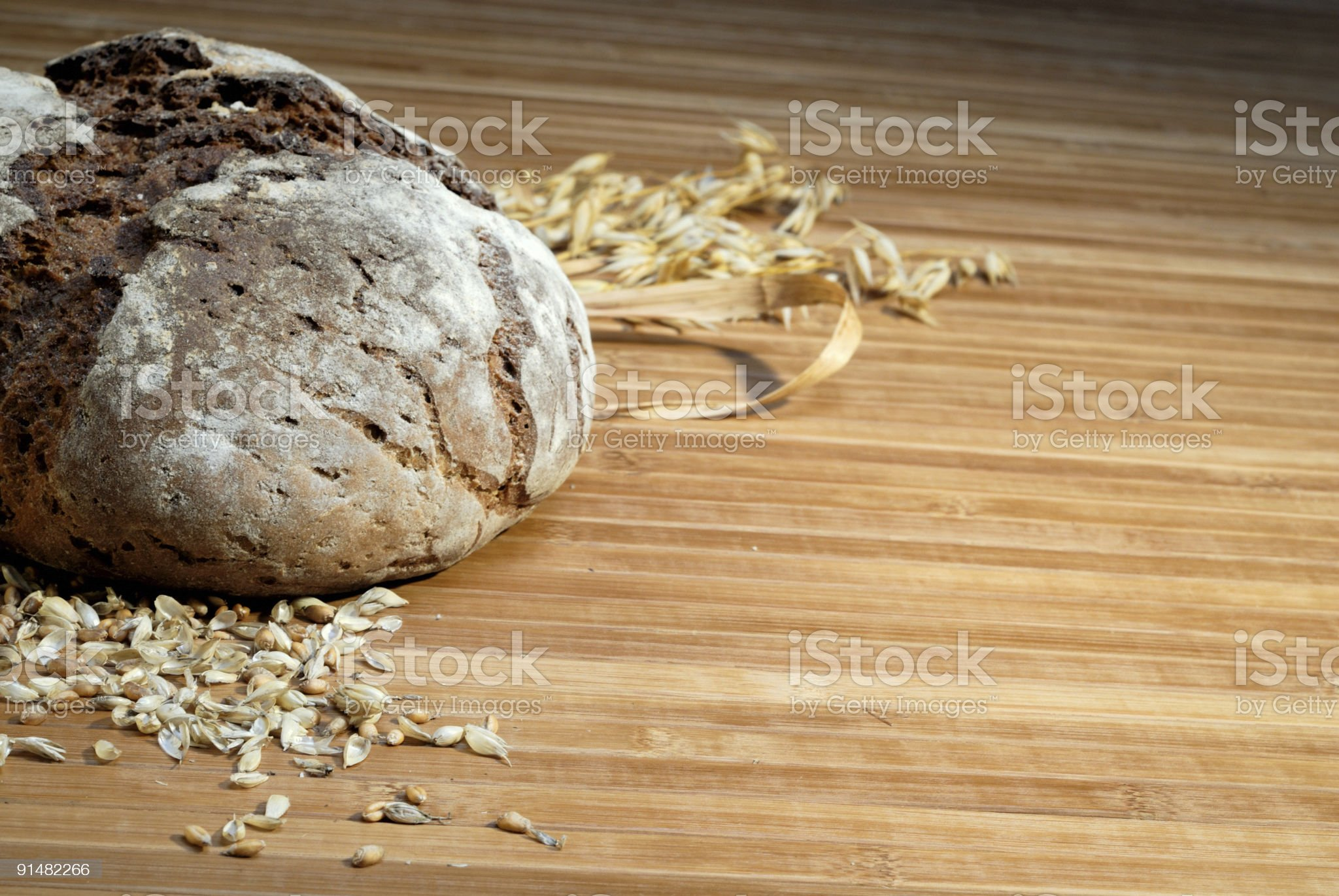 Bread and wheat royalty-free stock photo