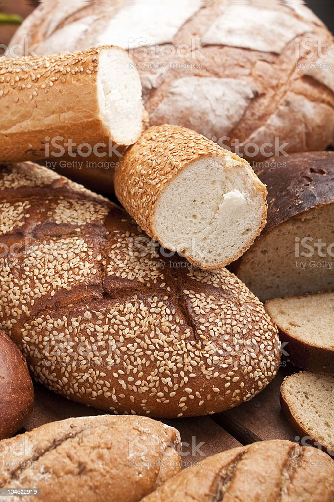 bread assortment background royalty-free stock photo
