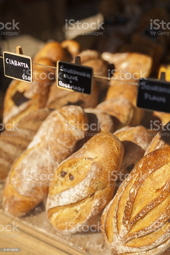 Bread at the markets stock photo