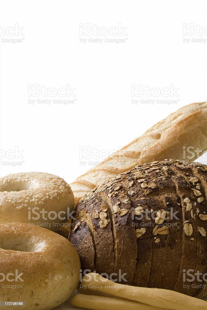 Bread border 2 stock photo