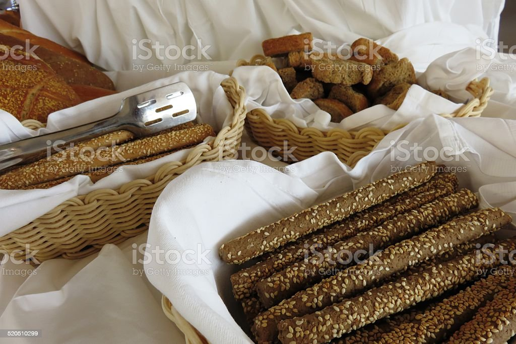 Bread border stock photo