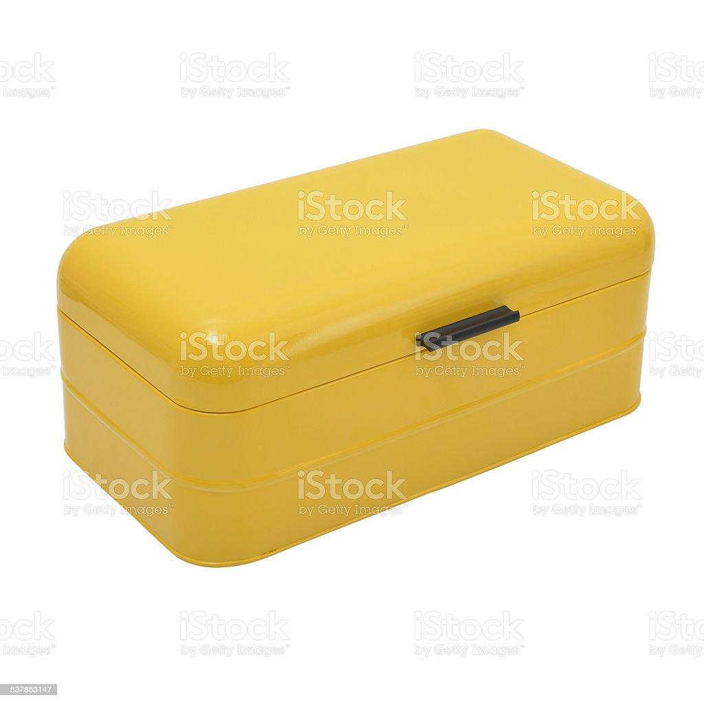 Bread box Isolated stock photo