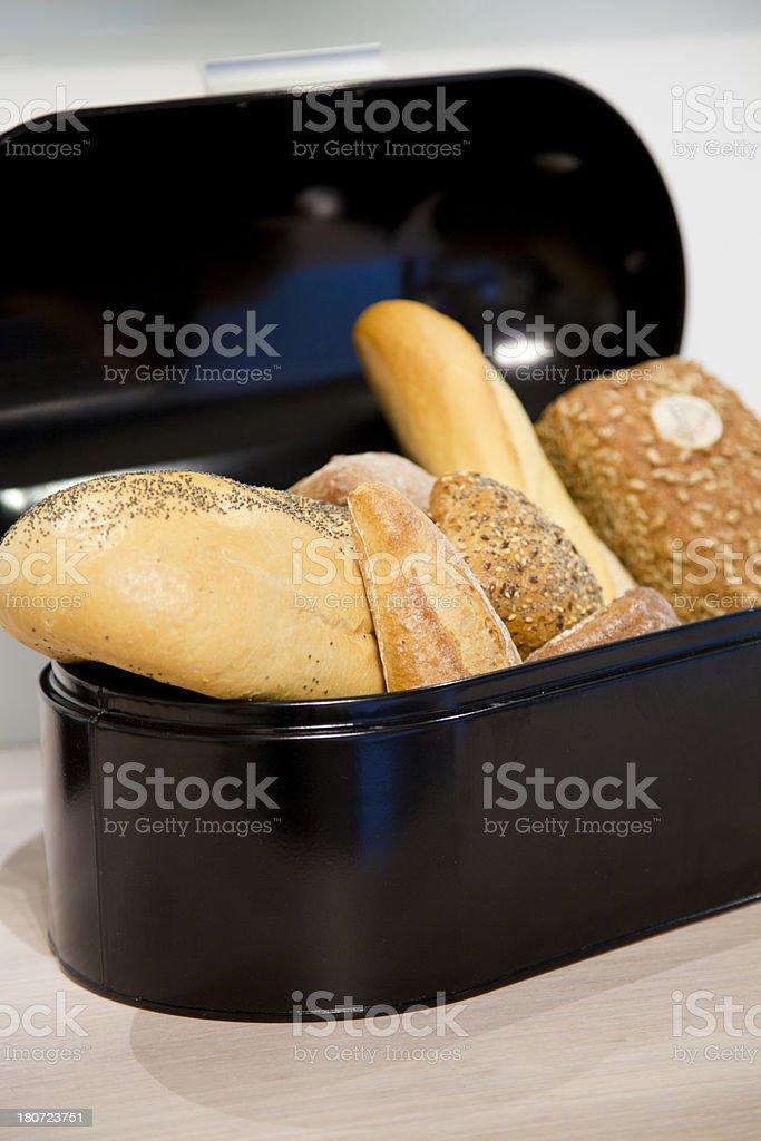 Bread box royalty-free stock photo