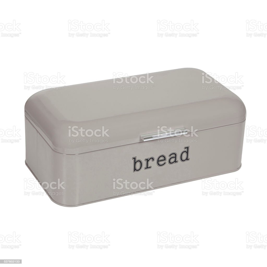 Bread Box with Cutting Board Isolated stock photo