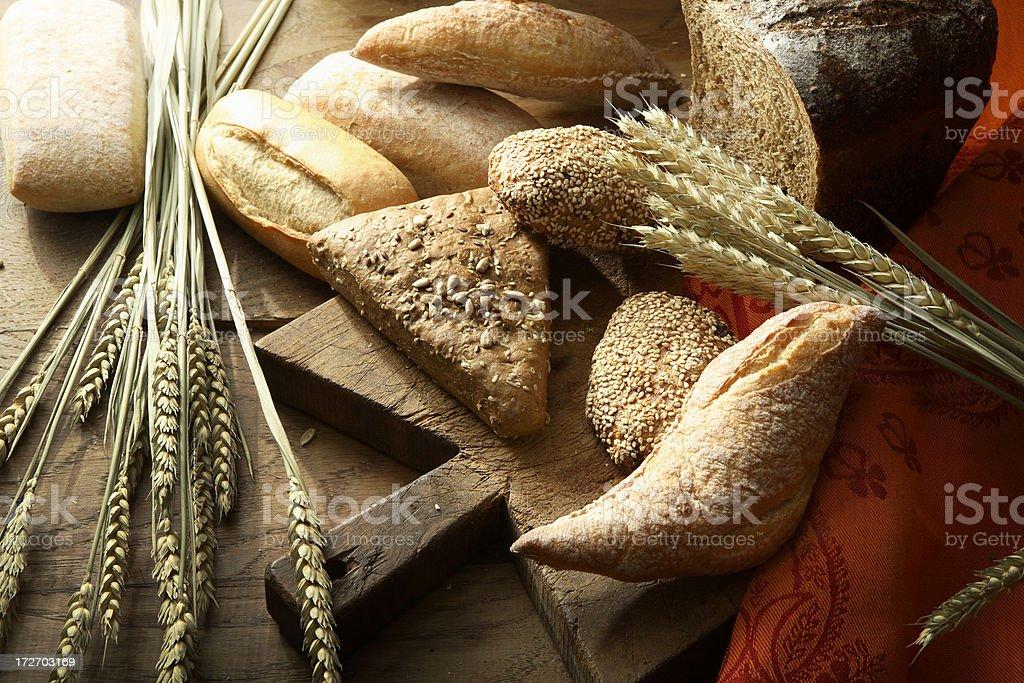 Bread: Bread Variety Still Life royalty-free stock photo