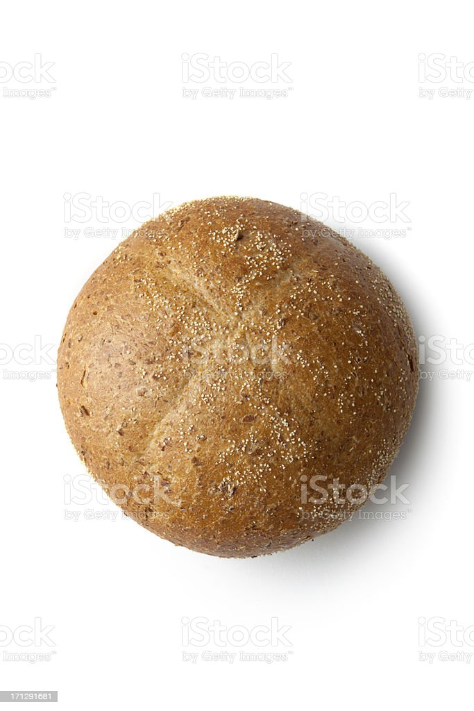 Bread: Bun Isolated on White Background stock photo