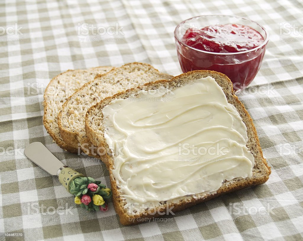 Bread, Butter and Jam royalty-free stock photo
