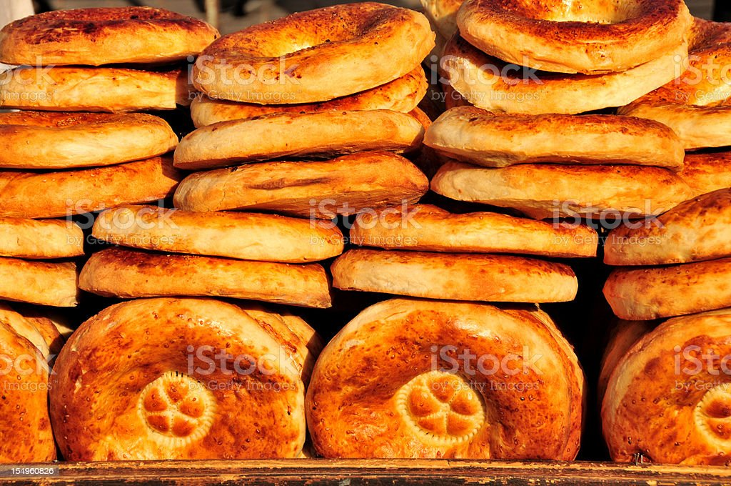 Bread (traditional) - Central Asia royalty-free stock photo