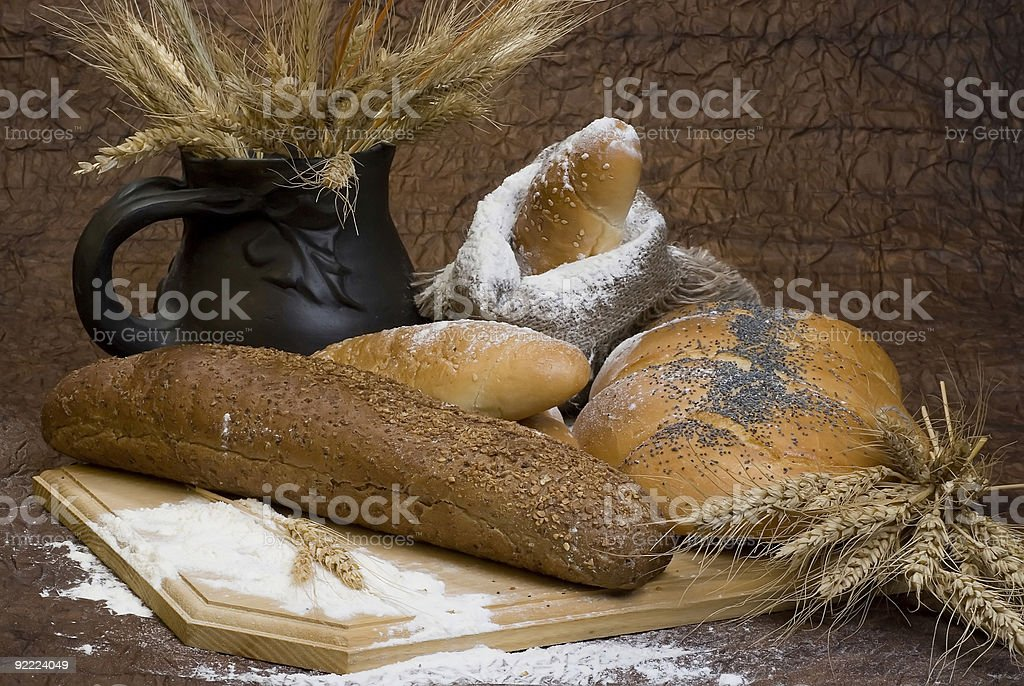 Bread, cereal, wheat, flour royalty-free stock photo
