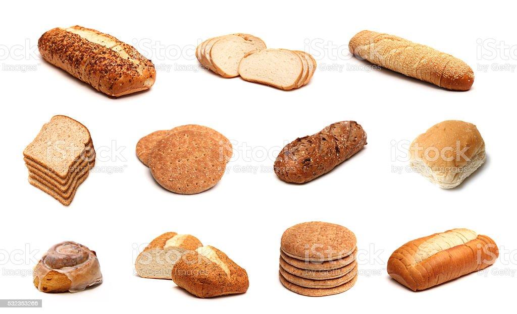 Bread Collage stock photo