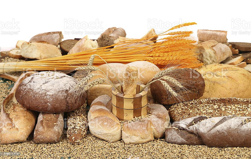 Bread composition. royalty-free stock photo