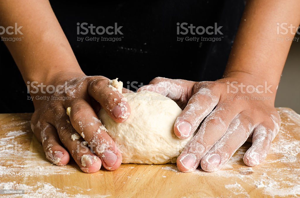 Bread cooking stock photo