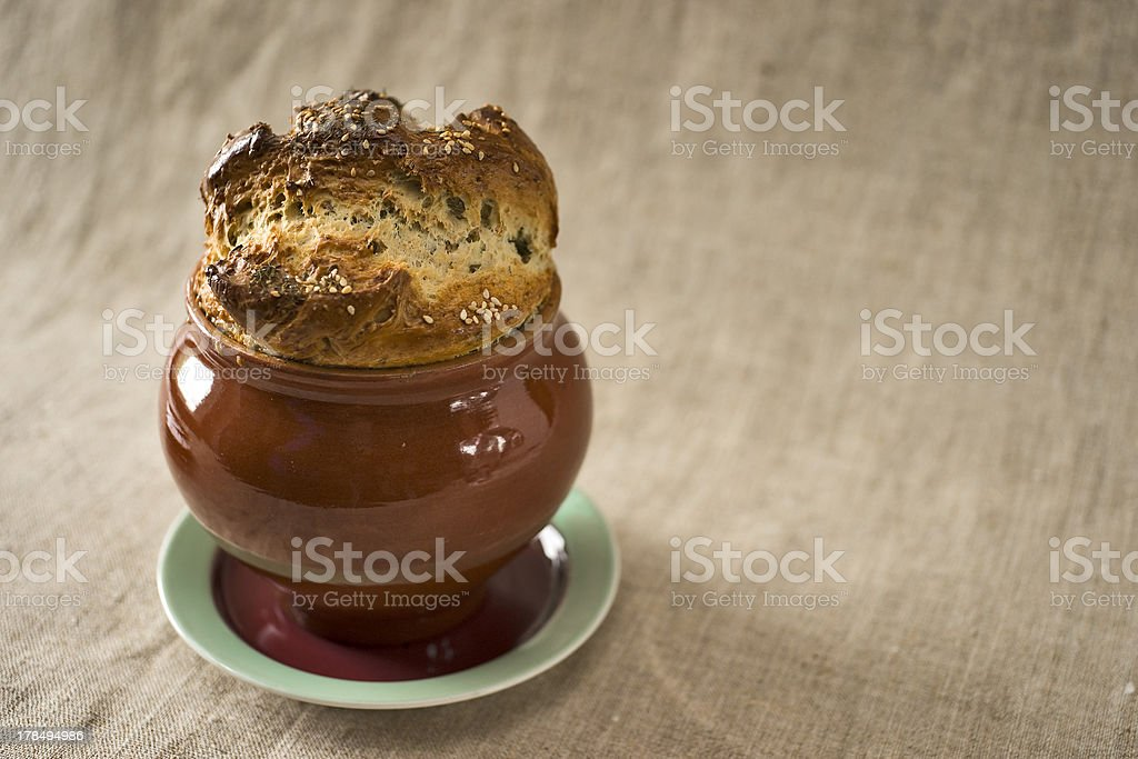 Bread covering royalty-free stock photo