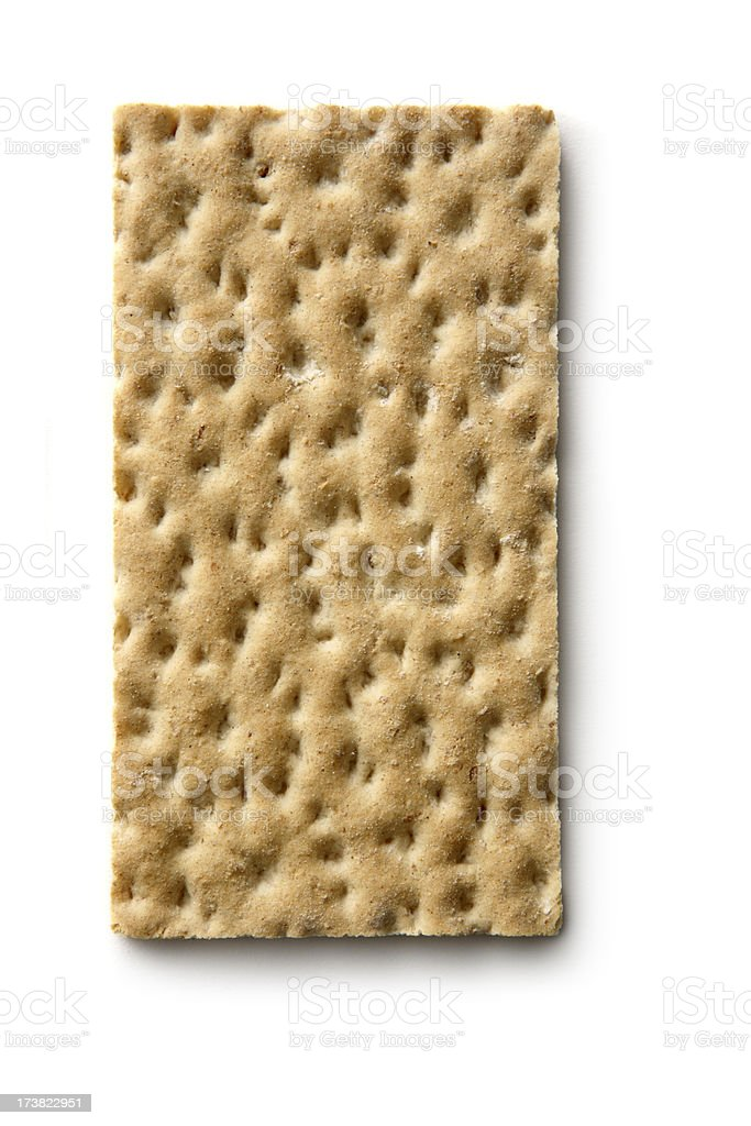 Bread: Crispbread Isolated on White Background royalty-free stock photo