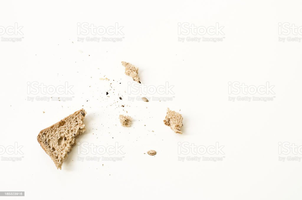 Bread crumbs stock photo