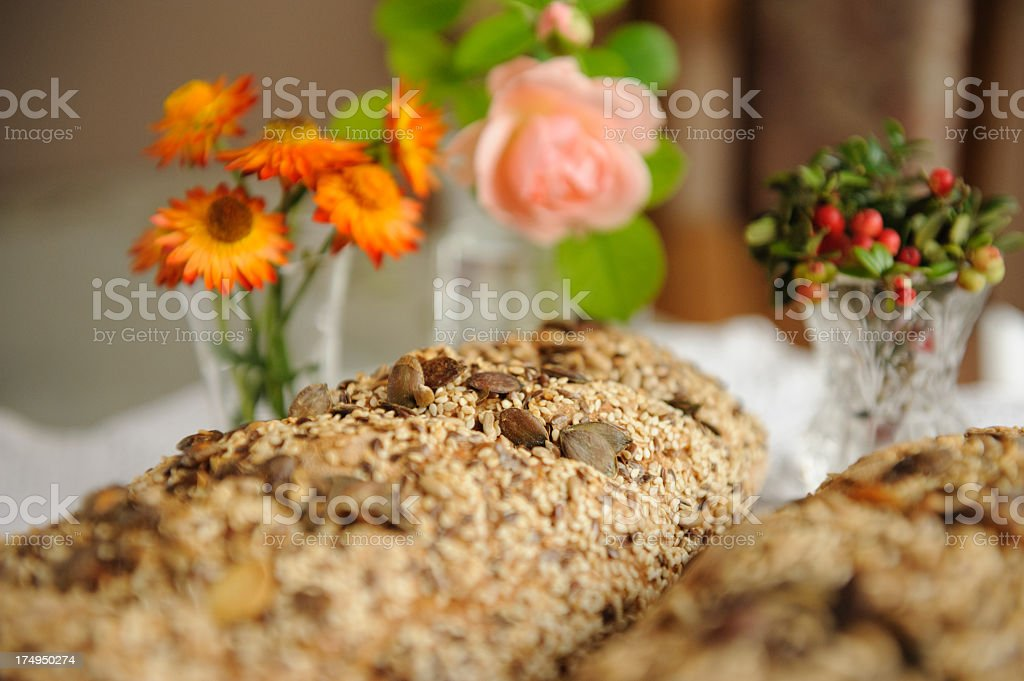 Bread detail stock photo