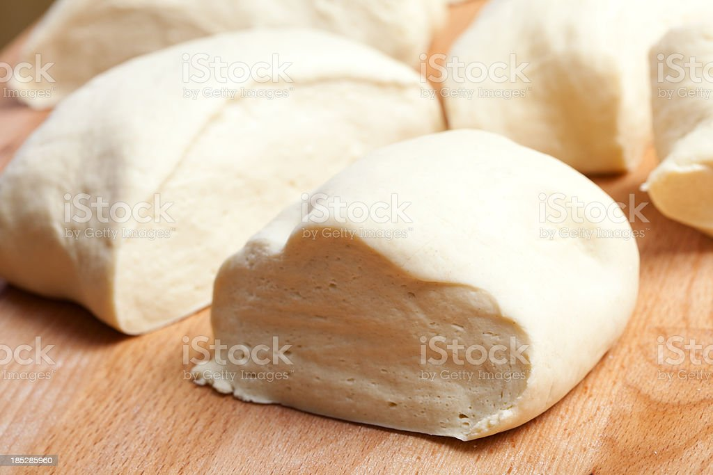Bread dough with yeast royalty-free stock photo