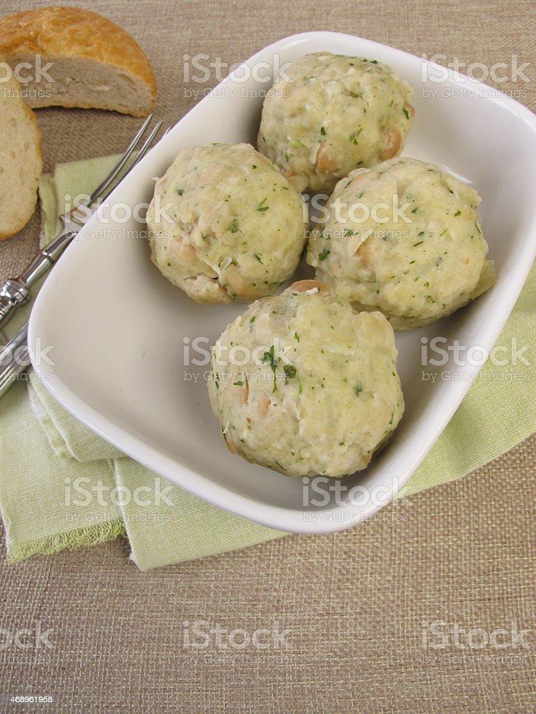 Bread dumplings stock photo