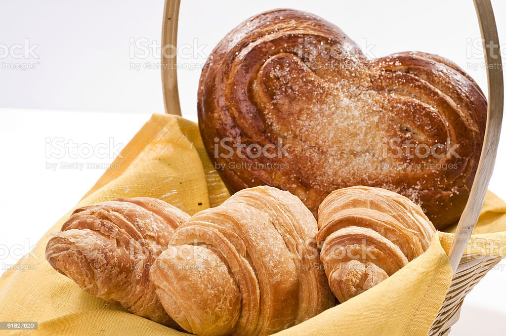 Bread food in a basket royalty-free stock photo
