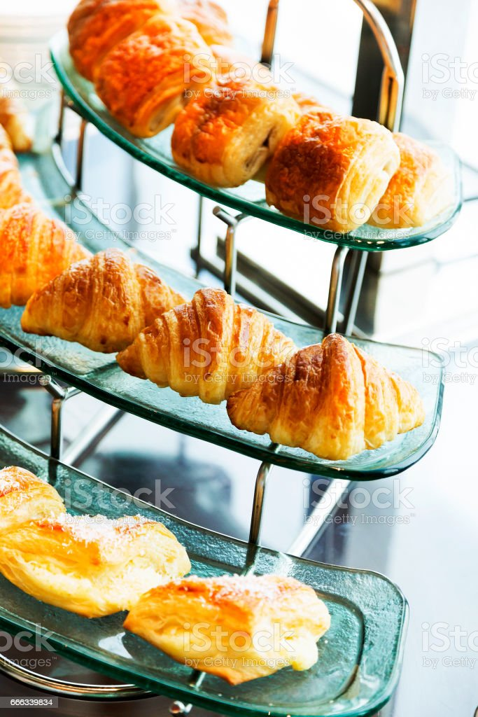 Bread for breakfast stock photo