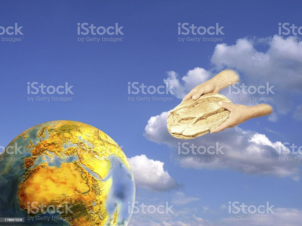 bread for the world stock photo