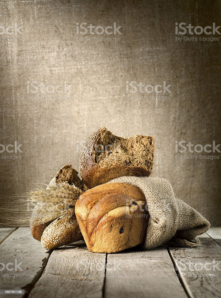 Bread in assortment royalty-free stock photo